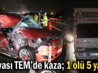 TEM'de feci kaza: 1 ölü, 5 yaralı