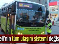 Kocaeli'nin tüm ulaşım sistemi değişecek!