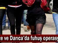 Gebze ve Darıca'da fuhuş operasyonu!