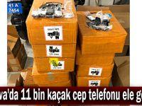 Çayırova'da 11 bin kaçak cep telefonu ele geçirildi