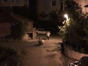 Gebze'de hırsızlık anı kameralara yansıdı