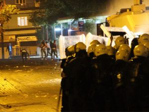 Kobani eylemleri gece boyunca devam etti
